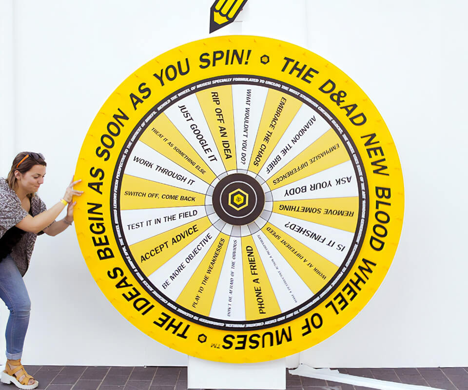 D&AD_NewBlood_Exhibition_Wheel_1